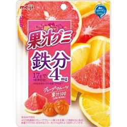 Meiji Juice Gummy Iron Grapefr...