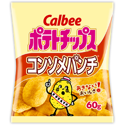 Calbee Potato Chips Consomme Punch 60g