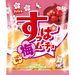 Koikeya Suppa Moucho Chips Plum Flaver 55g